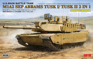 1/35 M1A2 SEP ABRAMS TUSK I/TUSK II (2 IN 1, with Full Interior)