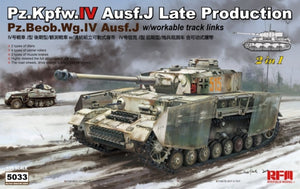1/35 Pz.Kpfw.IV Ausf.J Late Production / Pz.Beob.Wg.IV Ausf.J (2 in 1, w/workable track links)