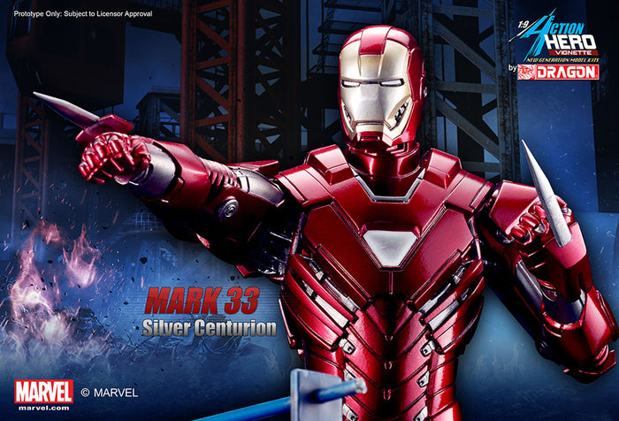 1/9 ACTION HERO VIGNETTE IRON MAN 3 SILVER CENTURION