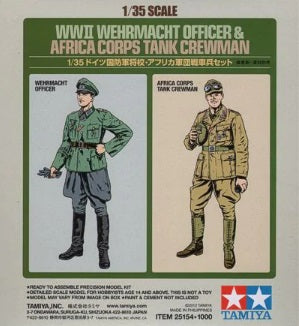 1/35 WWII Wehrmacht Officer & Africa Corps Tank Crewman (2-Figure Set)