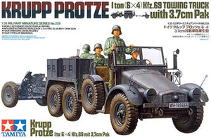 1/35 Krupp Protze 1 ton (6x4) Kfz.69 Towing Truck with 3.7cm Pak