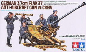 1/35 German 3.7cm Flak 37 Anti-Aircraft Gun w/Crew