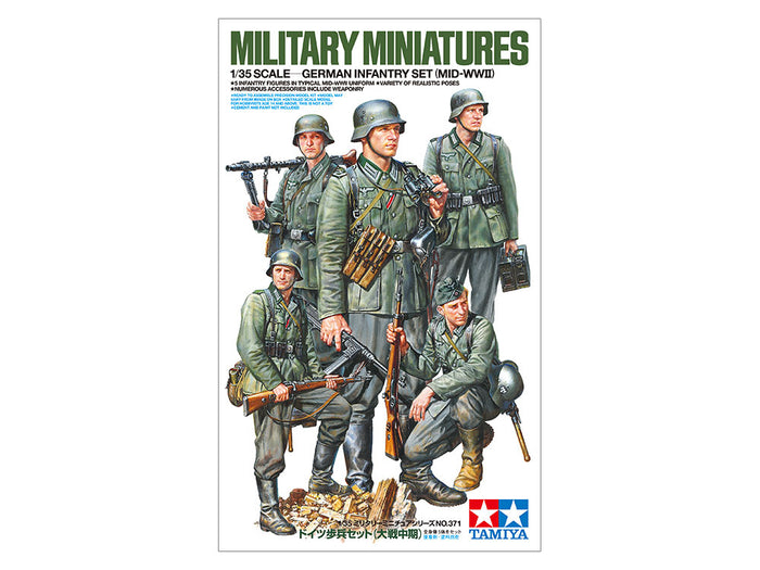 1/35 German Infantry Set (Mid-WWII)