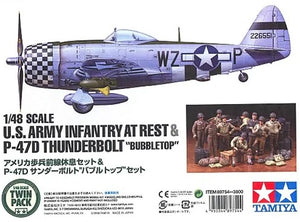 "1/48 U.S. Army Infantry At Rest & P-47D Thunderbolt ""Bubbletop"""