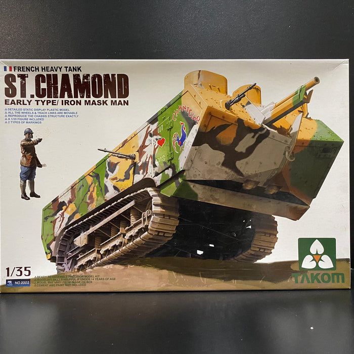 1/35 French Heavy Tank St. Chamond Early Type/ Iron Mask Man