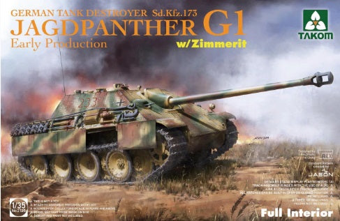 1/35 Jagdpanther G1 Early Production w/zimmerit & full interior
