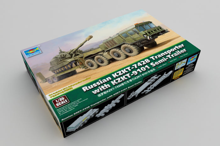 1/35 Russian KZKT-7428 Transporter with KZKT-9101 Semi-Trailer