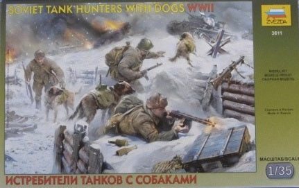 1/35 Soviet Tank Hunters with dogs WWII