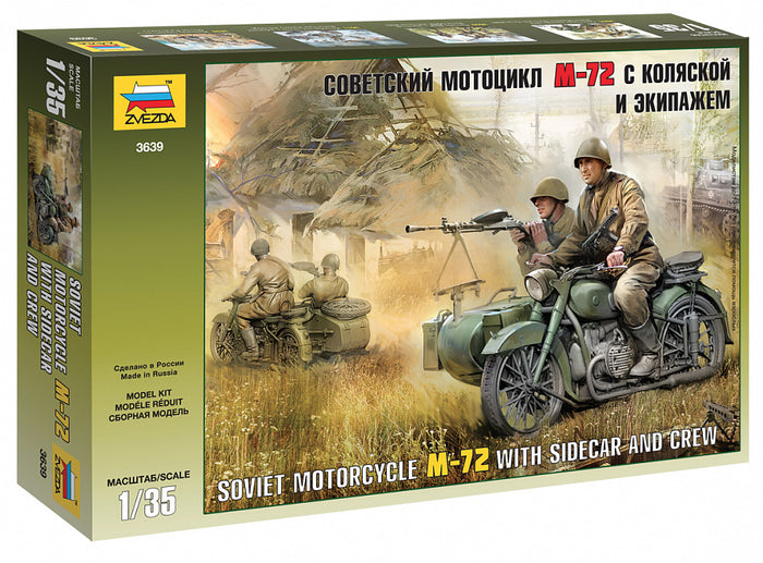 1/35 Soviet Motorcycle M-72 w/ Sidecar and Crew