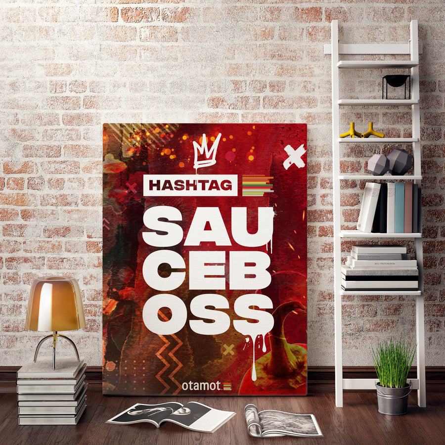 #SAUCEBOSS Red Canvas Print