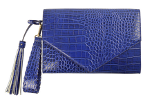 Load image into Gallery viewer, Embossed Clutch- Blue