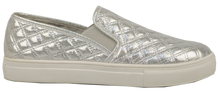 Load image into Gallery viewer, Quilted Sneaker Slide Silver