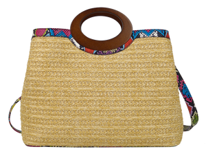 Wooden Top Handle Bag