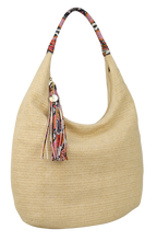 Load image into Gallery viewer, Raffia Hobo