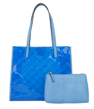 Load image into Gallery viewer, Clear Logo Tote with Pouch