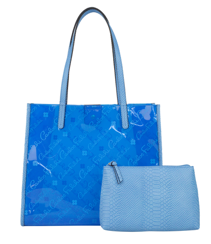 Clear Logo Tote with Pouch