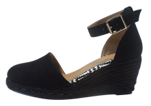 Load image into Gallery viewer, Ankle Strap Espadrille- Black