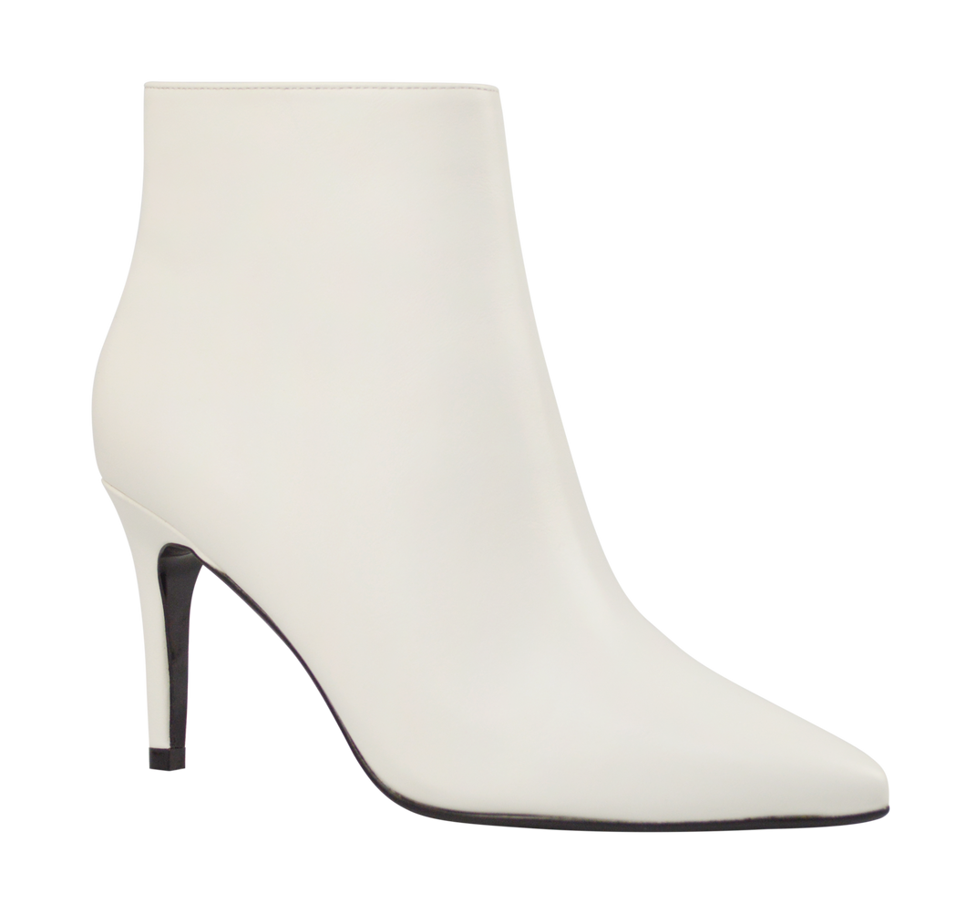 White Heeled Bootie
