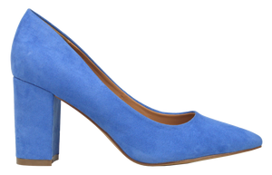 Suede Block Heel- Blue