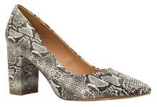 Load image into Gallery viewer, Suede Block Heel - Python