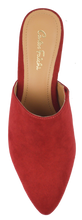 Load image into Gallery viewer, Suede Mule- Red