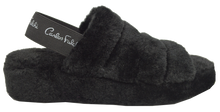 Load image into Gallery viewer, Furry Slipper with Strap- Black