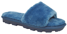 Load image into Gallery viewer, Furry Slipper Slide- Blue