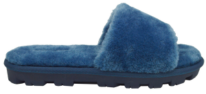 Furry Slipper Slide- Blue