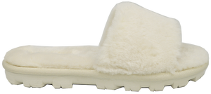 Furry Slipper Slide- White