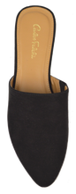 Load image into Gallery viewer, Black Suede Mule- Flat