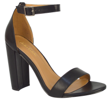 Load image into Gallery viewer, Ankle Strap Sandal- Black