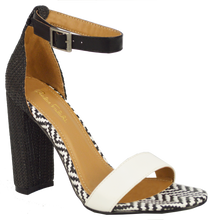 Load image into Gallery viewer, Ankle Strap Sandal- Black and White