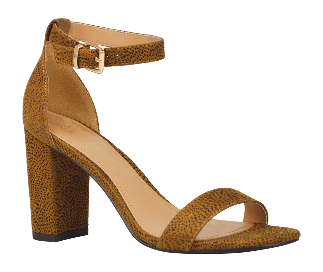 Ankle Strap Sandal- Animal Print