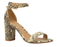 Load image into Gallery viewer, Ankle Strap Sandal- Python