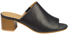 Load image into Gallery viewer, Open Toe Mule- Black