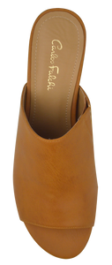 Open Toe Mule- Saddle