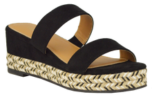 Load image into Gallery viewer, Woven Bottom Sandal- Black