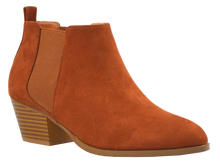 Load image into Gallery viewer, Suede Bootie- Brown