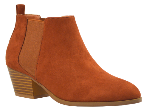 Suede Bootie- Brown