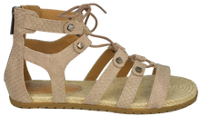 Load image into Gallery viewer, Studded Gladiator Sandal- Nude