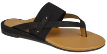 Load image into Gallery viewer, Strappy Thong Sandal- Black