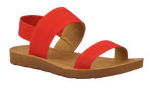 Load image into Gallery viewer, Banded Sandal- Red Suede