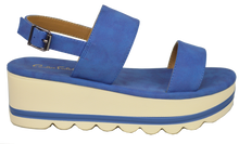 Load image into Gallery viewer, Platform Strappy Sandal - Blue