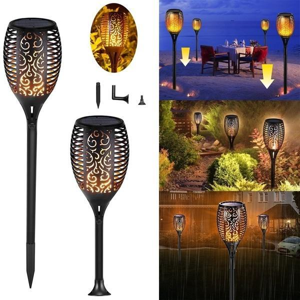Waterproof Flickering Flames Torches Lights Outdoor Solar Light Landscape Decoration