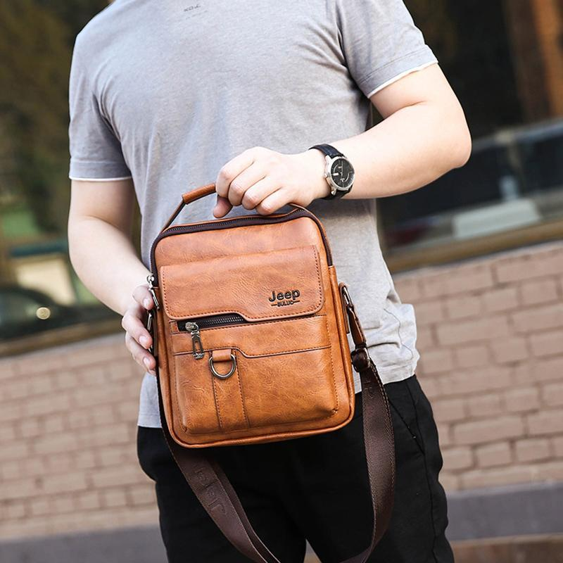 Herren Leder Business Messenger Bag