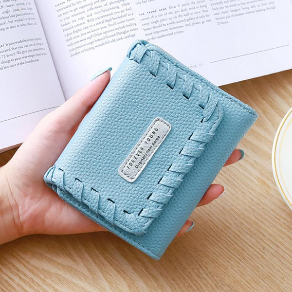 Ladies Sweet Chic PU Leder Kartenhalter Short Wallet
