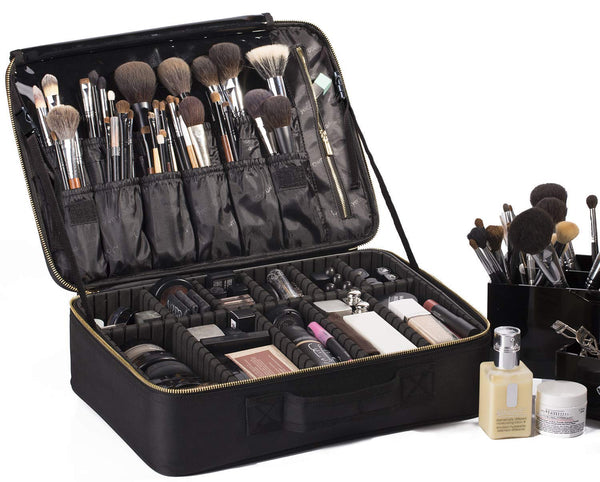 Professionelle Kosmetiktasche, Makeup Train Case Reise Make-up Tasche 16 '' Portable Makeup Artist Organizer Make-up Pinsel Tasche für Kulturbeutel Schmuck Digital Zubehör groß