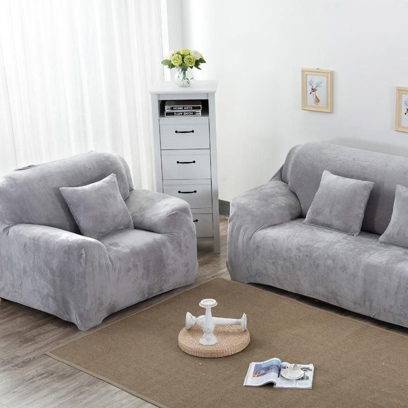 1-4 Seaters Thick Plush Recliner Sofabezüge Retro Recliner Sofabezug Soft Couch Schonbezüge