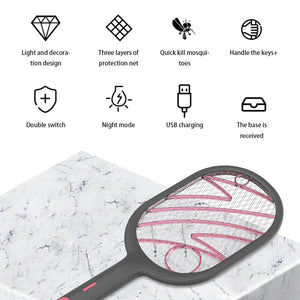 2 in 1 Rechargeable USB Electric Mosquito Swatter
