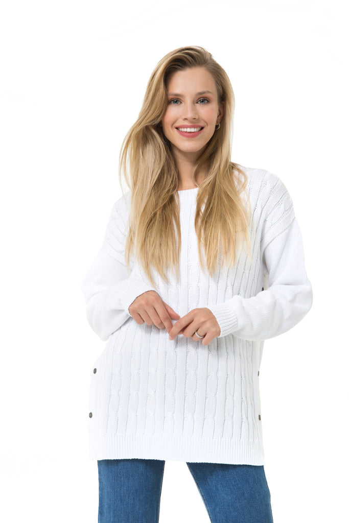 Accouchee Cozy Strike Knitwear White